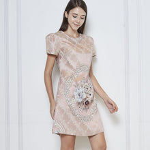 Load image into Gallery viewer, Barbara Jacquard Sleeve Dress