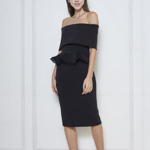 Unice Neoprene Off Shoulder Dress