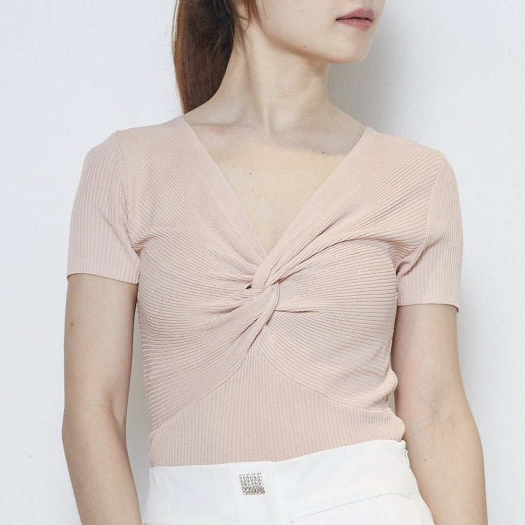 Short Sleeve Knit Top