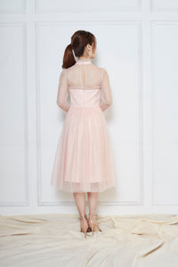 Viviance Tulle Sleeve Dress