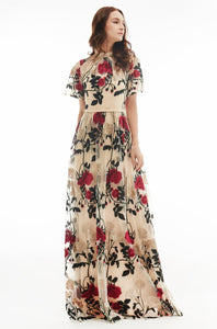 Amelia Embroidered Maxi Dress