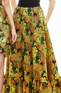 Juliana Brocade Maxi Dress
