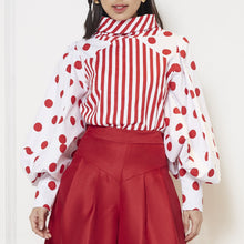 Load image into Gallery viewer, Stripe Polka Long Sleeve Top