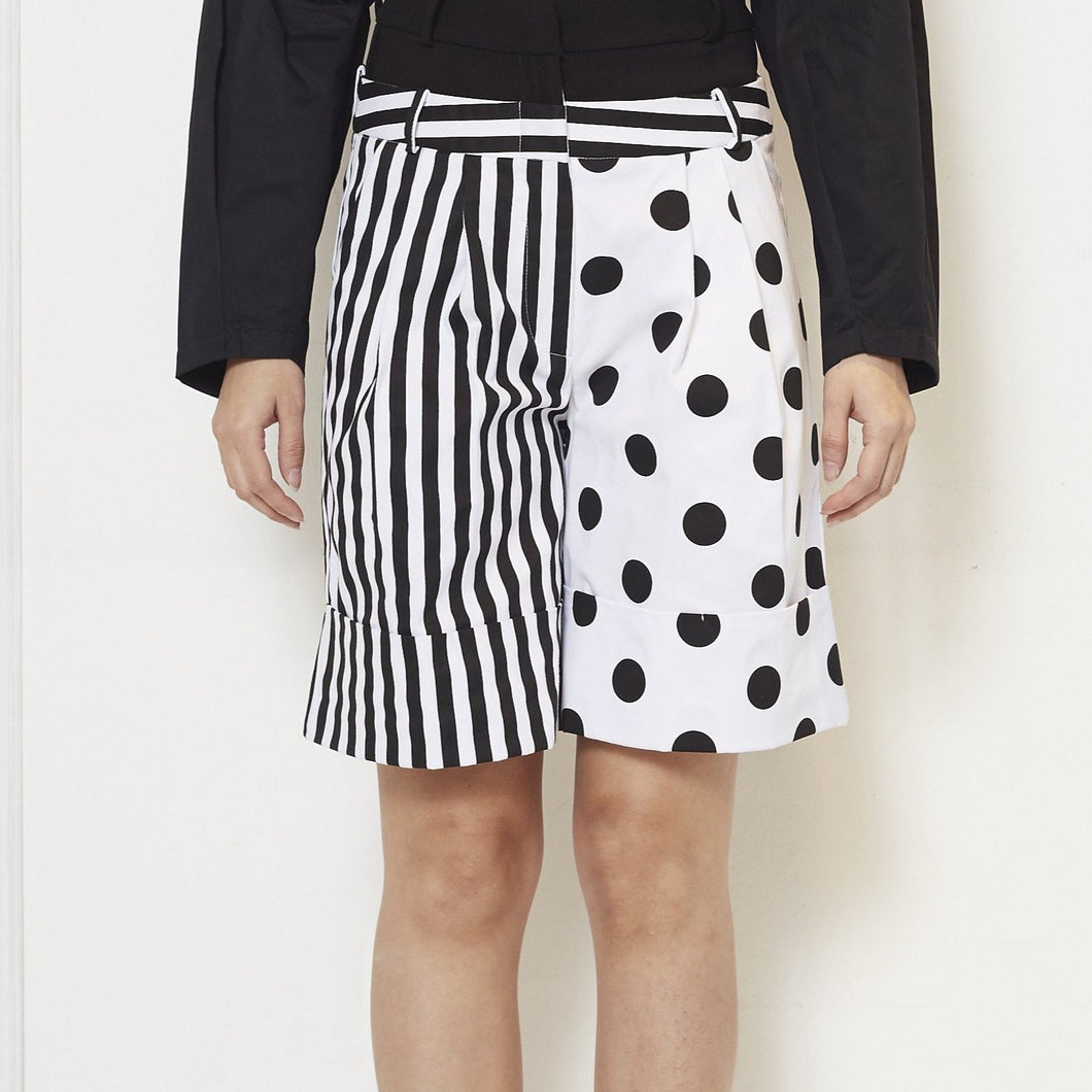 Stripe Polka Short Pants