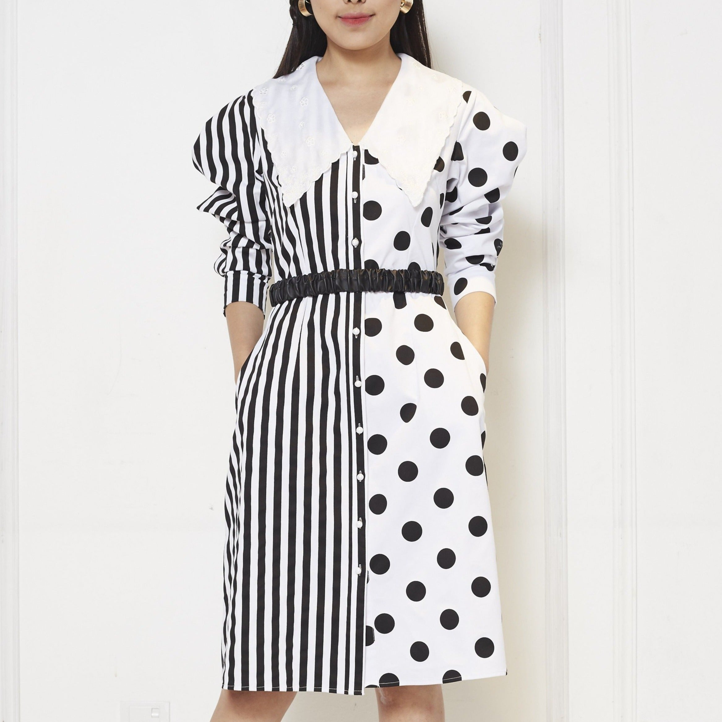 Stripe Polka Dress