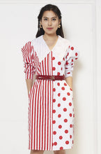 Load image into Gallery viewer, Stripe Polka Dress