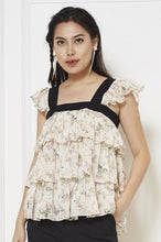 Load image into Gallery viewer, Chiffon Sleeveless Printed Top