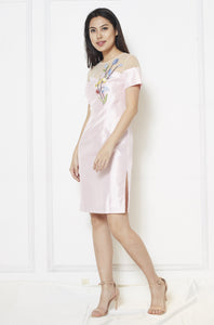Flower Patch Silk Dress