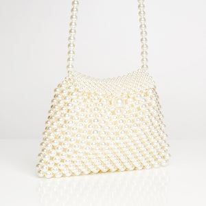 Pearl White Clutch Bag