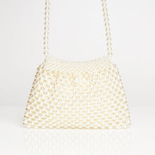 Load image into Gallery viewer, Pearl White Clutch Bag