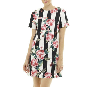 Rose Dress Black & White