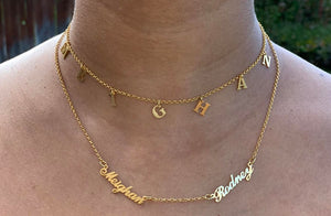 Personalized Multiple Name Necklace