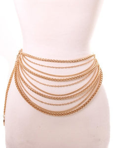 Layer Me in Gold -Chain Belt