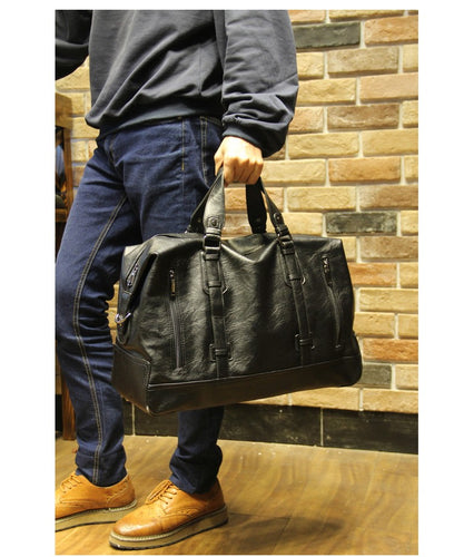 High QualityLeather Men's Large Travel Bags