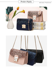 Fashion Women Sequined Bag Quality Leather