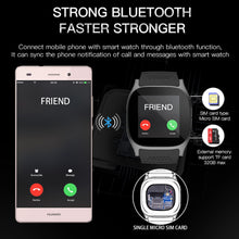 T8 Bluetooth Sport Smart Watch Phone 1.54 inch Touch Screen Support SIM TF Card With Camera Call For Android ISO phone