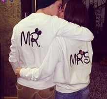 Couple Clothes Full Sleeve White Sweatshirt Funny Women Pullover For Lover