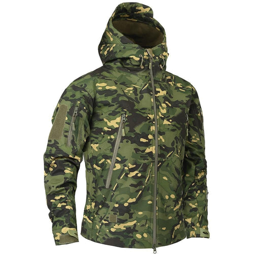 Autumn Men's Military Camouflage Fleece Jacket