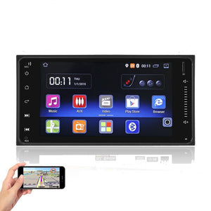 "Onever 7"" Android 5.1 Touch Screen Car Bluetooth GPS Navigation Radio Stereo MP5 Player for Toyota with WIFI Rear View Camera"