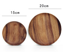 High Quality Acacia Wood  Round Wooden Plates