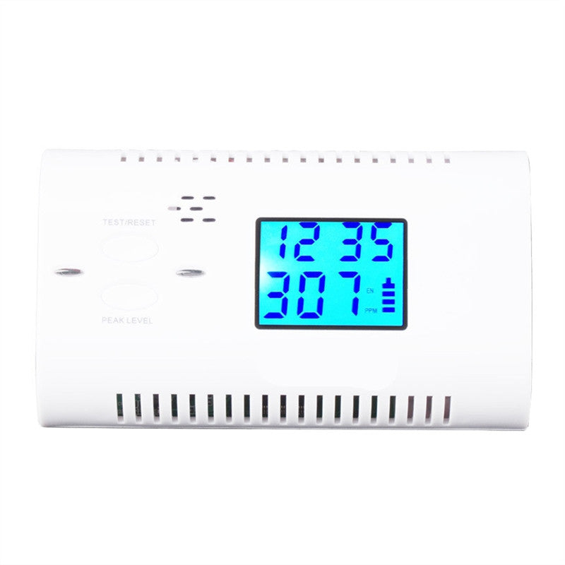 CO Detector Carbon Monoxide Alarm Tester Sensor Alarm Detector with Digital LCD Display
