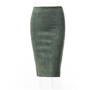 Tube Bodycon  Suede Skirts