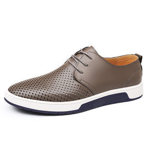 Luxury Brand  Leather  Breathable  shoes for Men