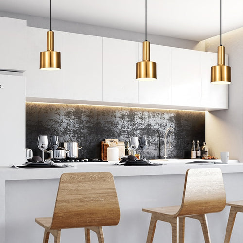 Gold bronze pendant light postmodern minimalist  hanging lamp lighting