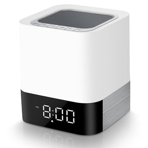Led  Alarm Clock with Night Light Bluetooth Speakers,  All in 1 Touch Sensor Bedside Lamp/MP3 Music Player Alarm Clock