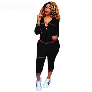 Casual Sport Set  Hoodie Long Sleeve Sweat Pants