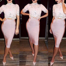 Sexy Pencil Bodycon Skirt Striped Knee-LengthWear