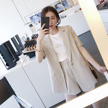Suits for Women Stylish Blazer & Hot Shorts Female Pant Suit Casual  2 Piece Set
