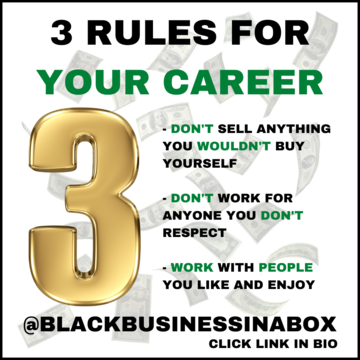 Three Rules for Your Career