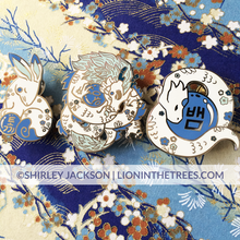 Chinese Zodiac Series 3 - Blue and White Porcelain Pins