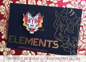 Limited Edition Elements Anthology Fire Tiger Enamel Pin