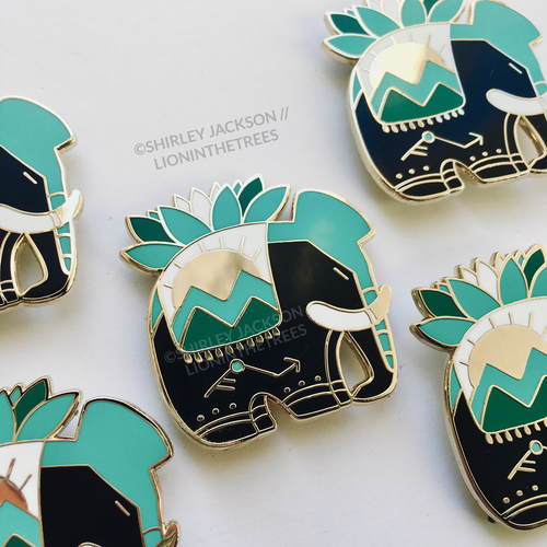 Elements Anthology: Earth - ELEPLANT Enamel Pin