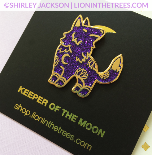 Limited Edition GLITTER Keeper of the Moon Enamel Pin