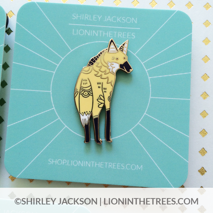 Long Leggy Friend (Maned Wolf) Enamel Pin