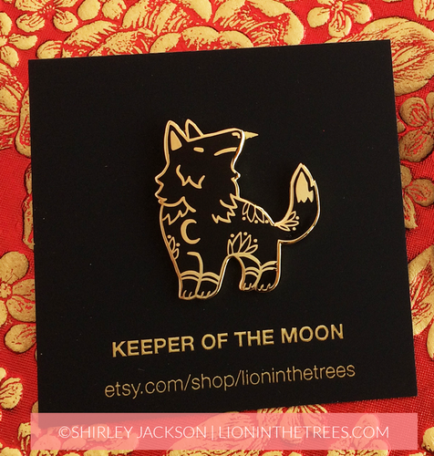 Keeper of the Moon Enamel Pin
