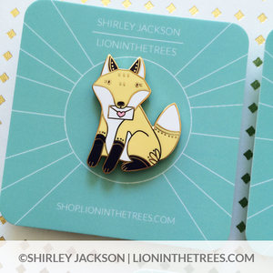 Love Letters from Lars (Fox) Enamel Pin