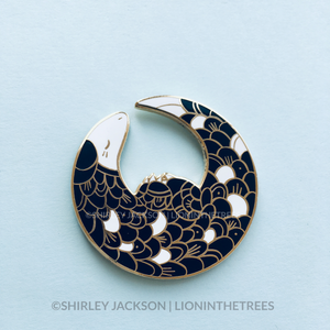 Pangolin Enamel Pin (CRESCENT MOON VERSION)