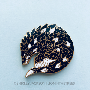 Pangolin Enamel Pin (ANCIENT BEAST VERSION)
