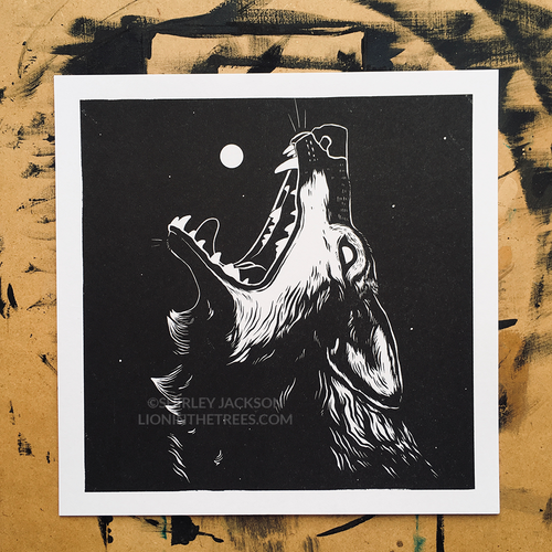 Queen of the Moon - Risograph Print