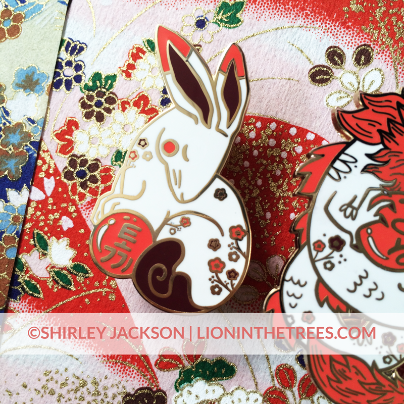 Chinese Zodiac Series 3 - Red and White Pins