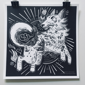 Year of the Coyote - Risograph Print
