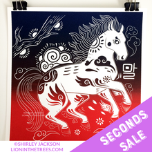 SECONDS SALE - Year of the Horse - Chinese Zodiac - Limited Edition Screen Print