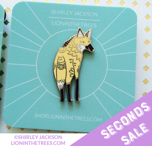 SECONDS SALE Long Leggy Friend (Maned Wolf) Enamel Pin