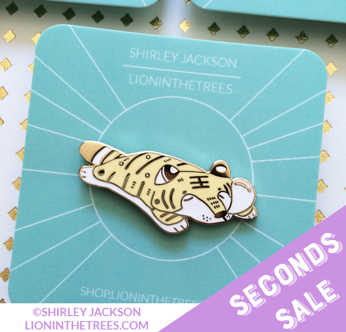SECONDS SALE Lazy Noon Catnap (Tiger) Enamel Pin