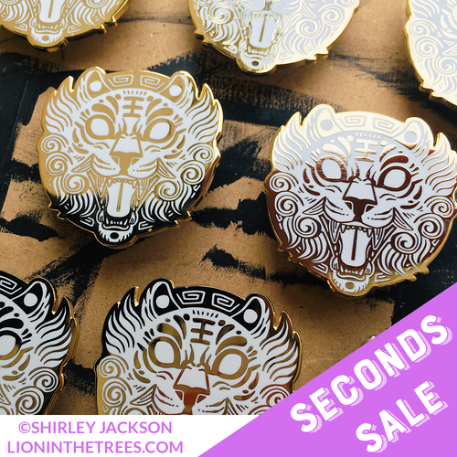 SECONDS SALE - Tiger Courage Medallion Enamel Pin