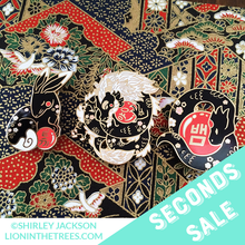 Seconds Sale Chinese Zodiac Series 3 -Black Lacquer and Pearl Enamel Pins